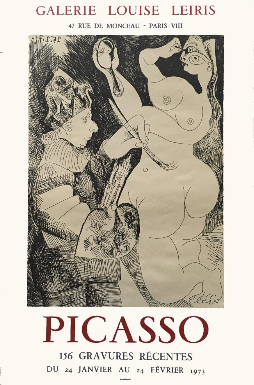 Pablo Picasso, '156 Gravures Récents' Picasso Poster, 1973
