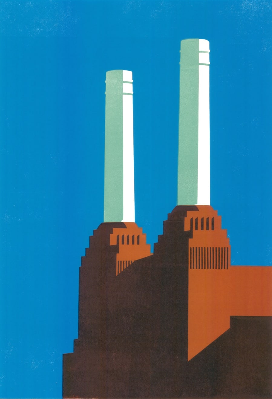 Paul Catherall, Battersea Blue IV, 2018