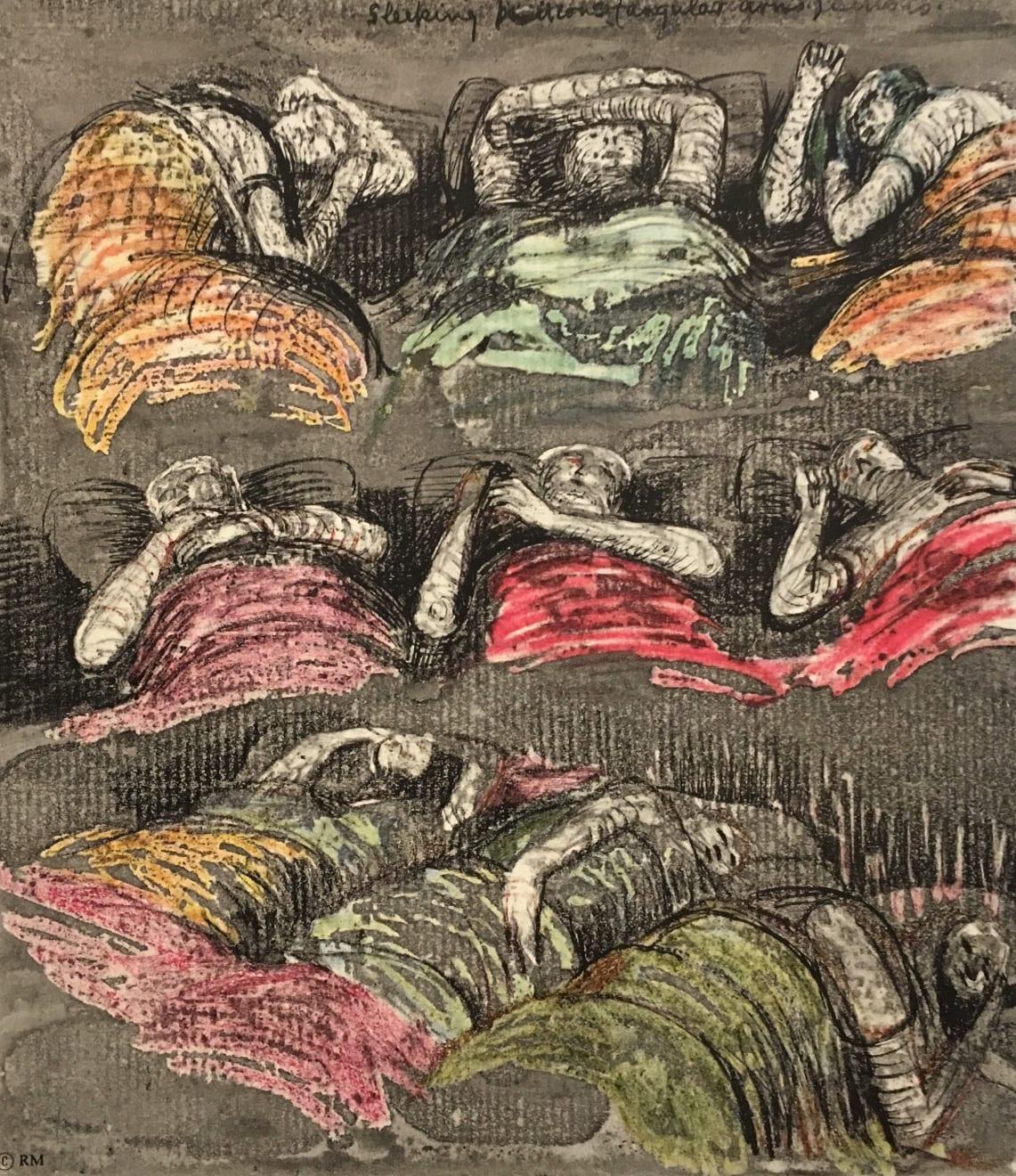 Henry Moore, Untitled LV (Shelter Sketchbook), 1967