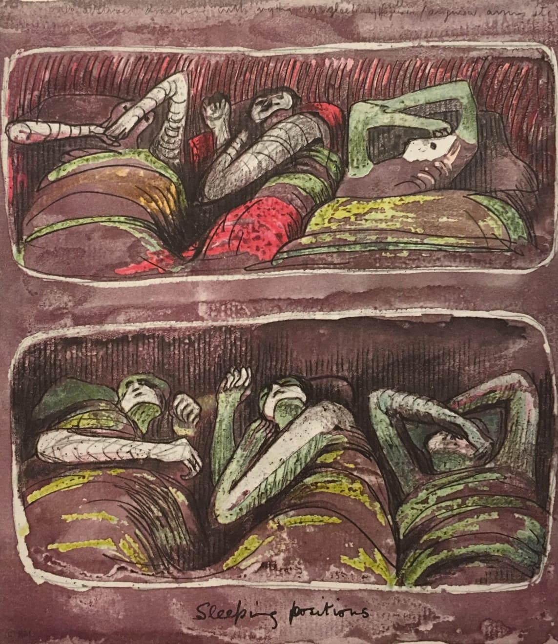 Henry Moore, Untitled LXV (Shelter Sketchbook), 1967