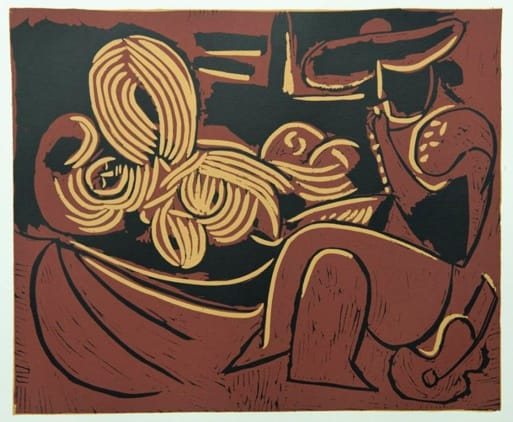 Pablo Picasso, Reclining Woman and Picador with Guitar, 1962