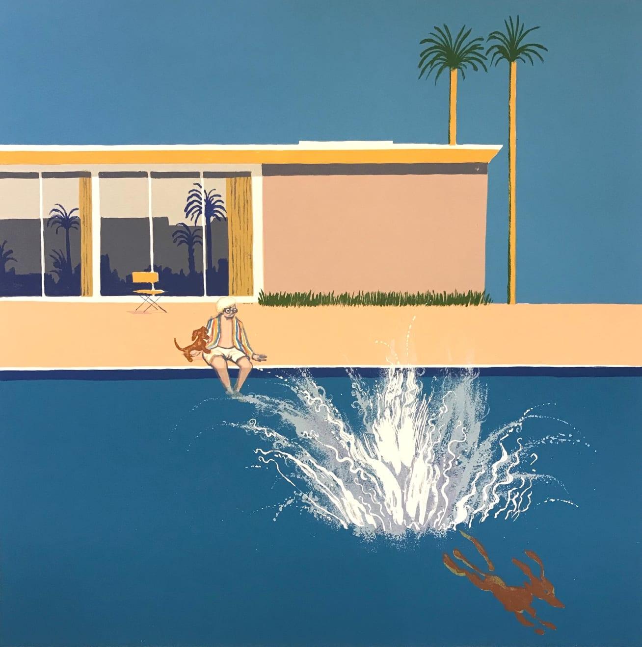 Mychael Barratt, Hockney's Dog - An Even Bigger Splash, 2018