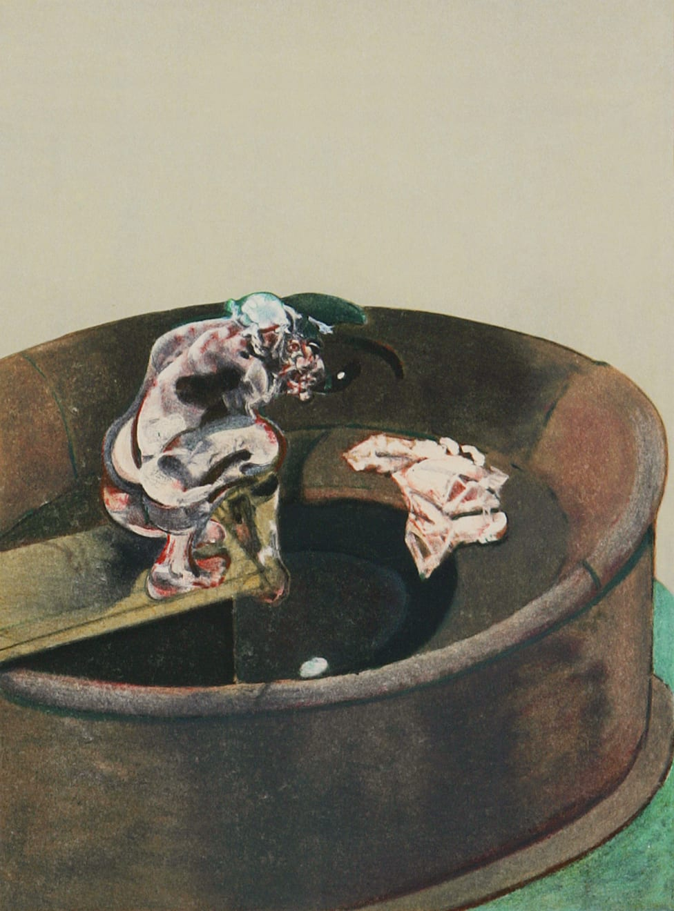 Francis Bacon, George Dyer Accroupi, 1966