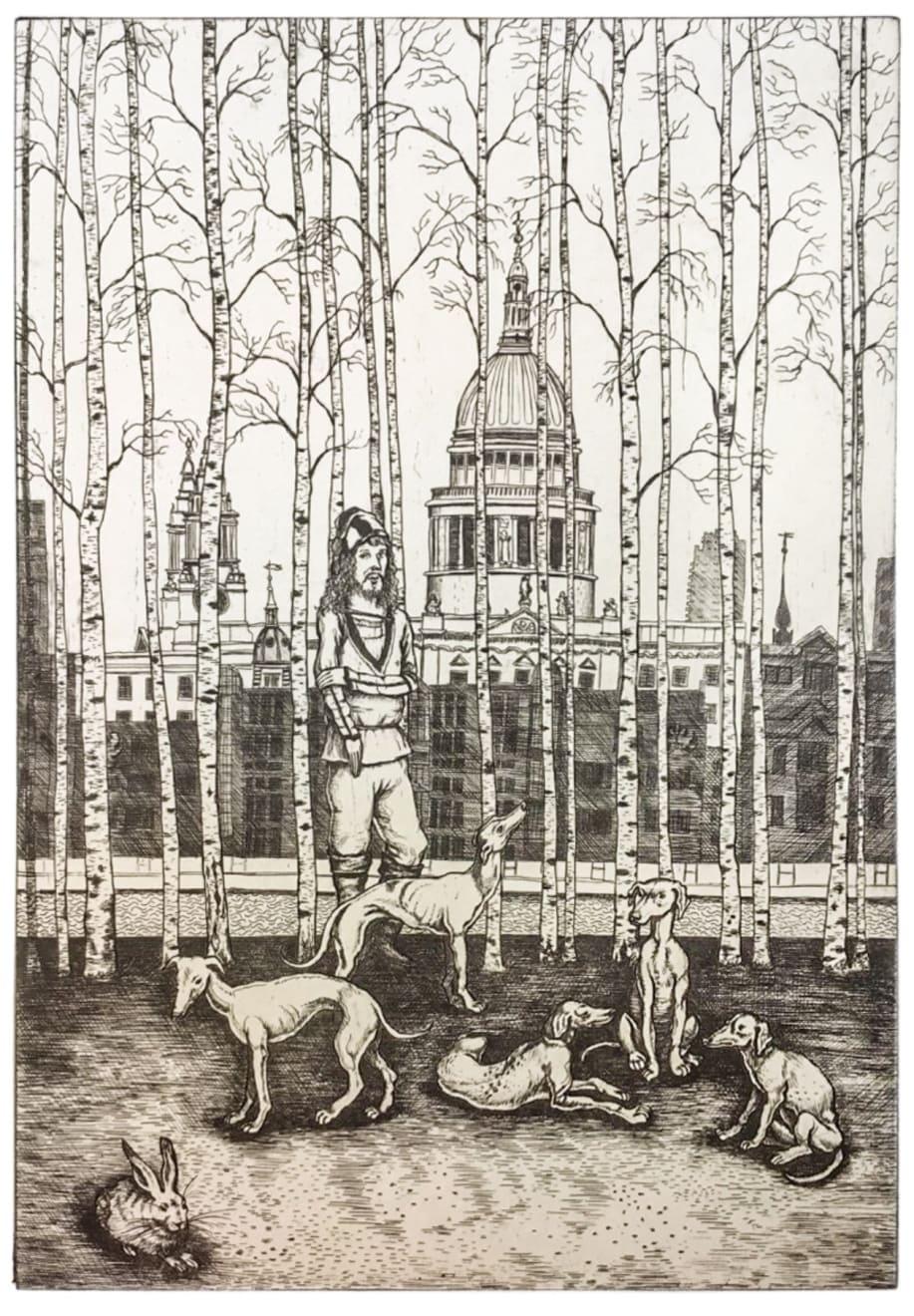Mychael Barratt, Dürer on the South Bank, 2020