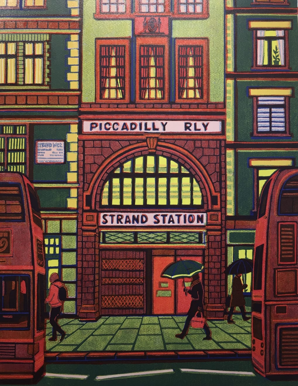 Gail Brodholt, Buses on The Strand, 2019