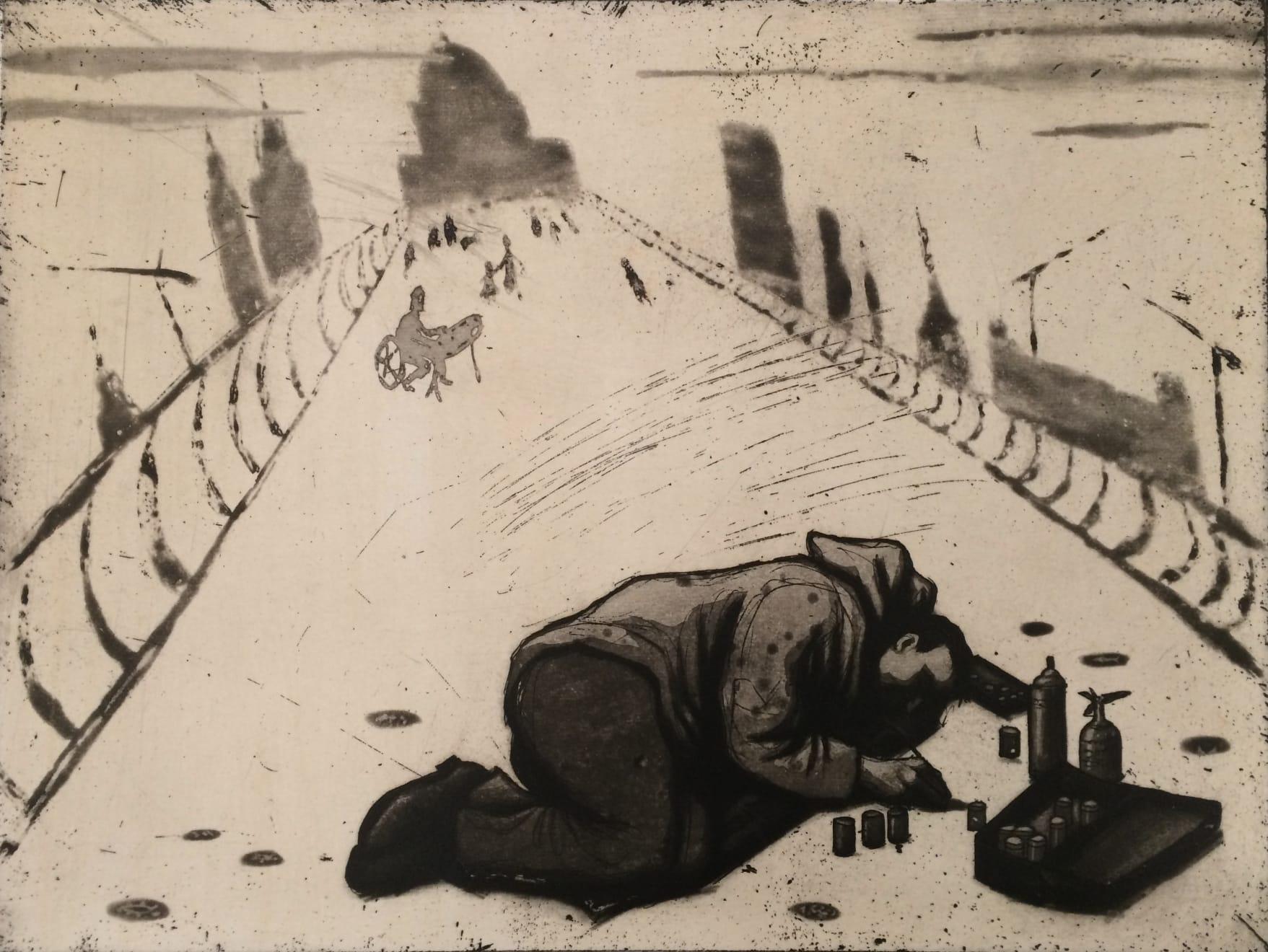 Mychael Barratt, Urban Myths III - The chewing gum artist