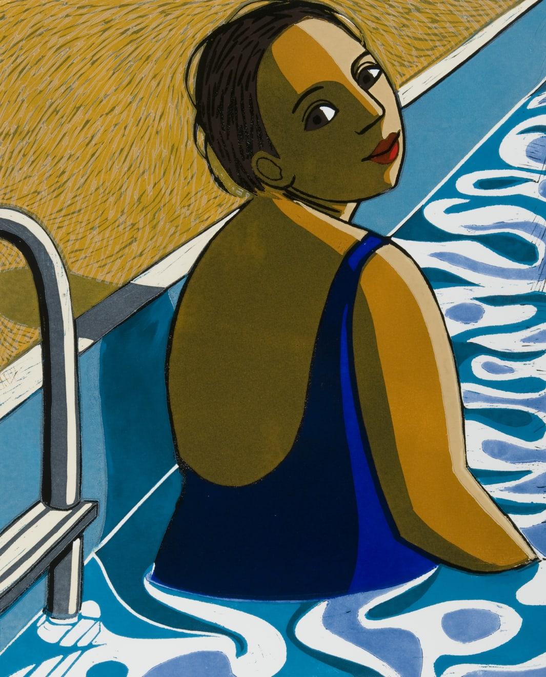 Anita Klein, In the Pool, 2018