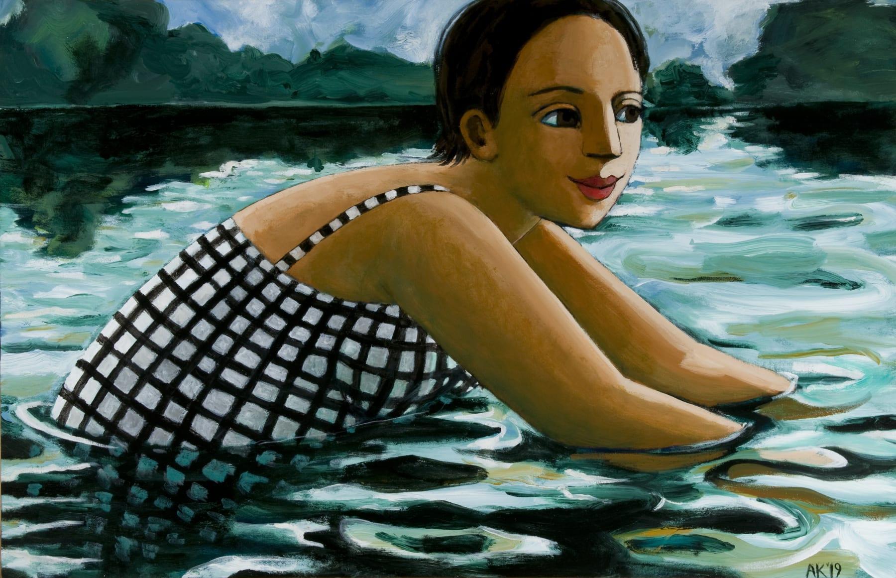 Anita Klein, Into the Lake, 2019