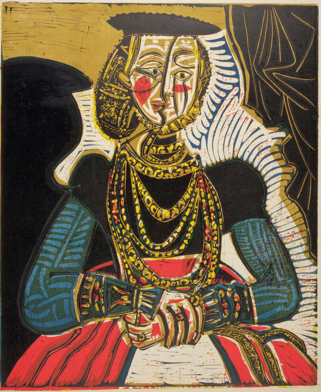 Pablo Picasso, Portrait of a Woman (After Cranach the Younger), 1962
