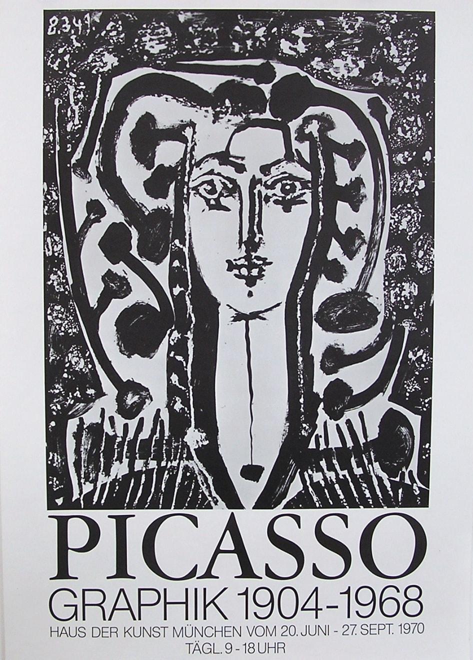 Pablo Picasso, Picasso 'Graphik 1904 - 1968' Exhibition Poster, 1970