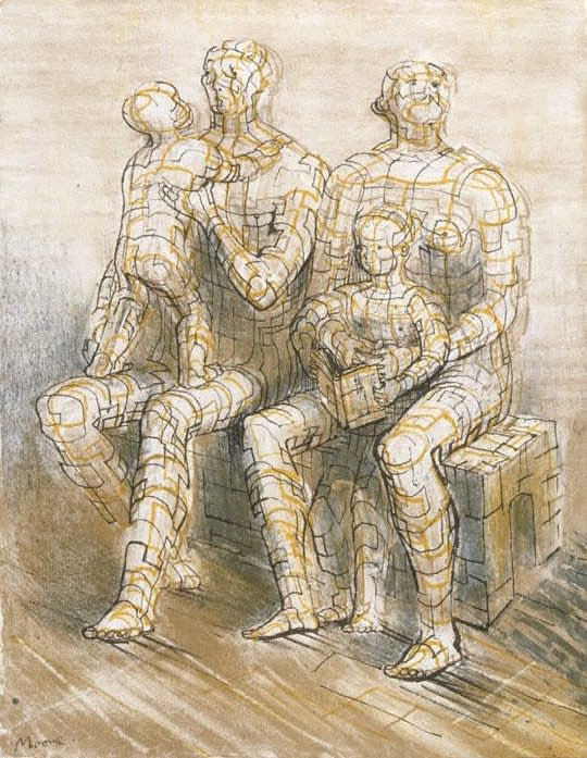 Henry Moore, Family Group, 1950