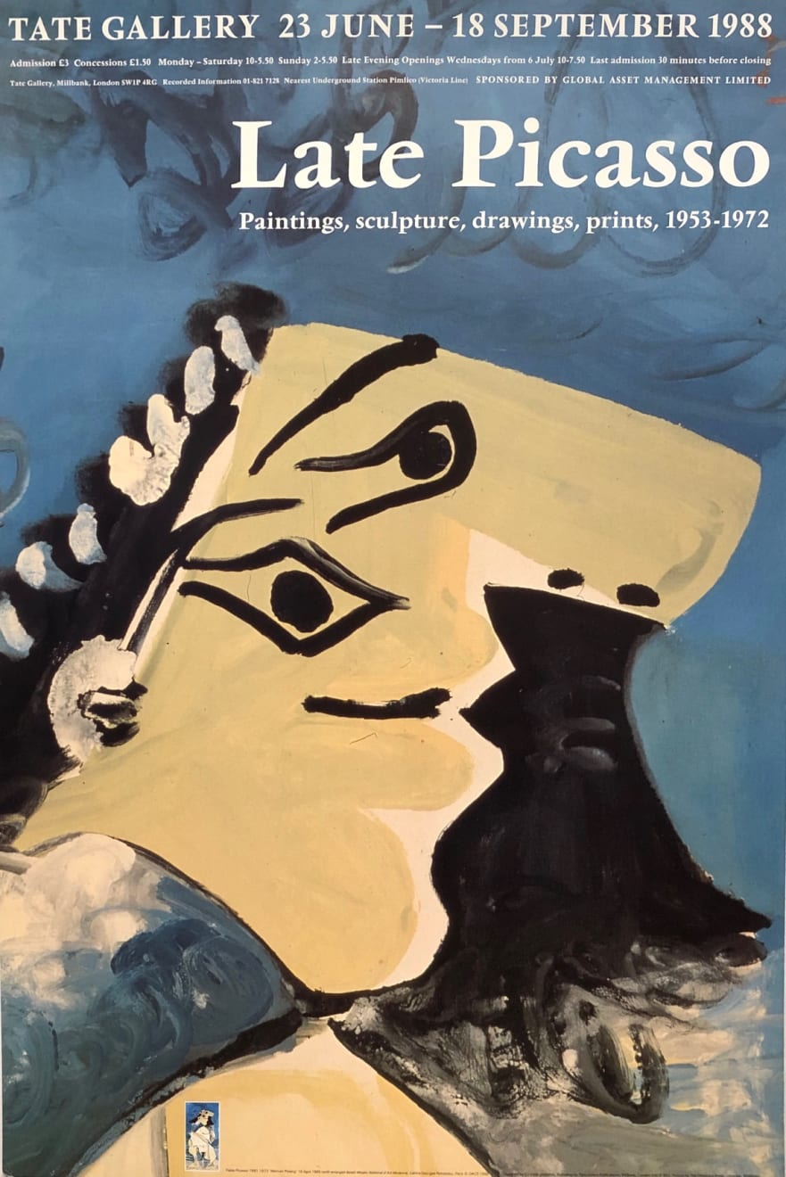 Pablo Picasso, 'Late Picasso: Paintings, Sculptures, Drawings' Exhibition Poster, 1988