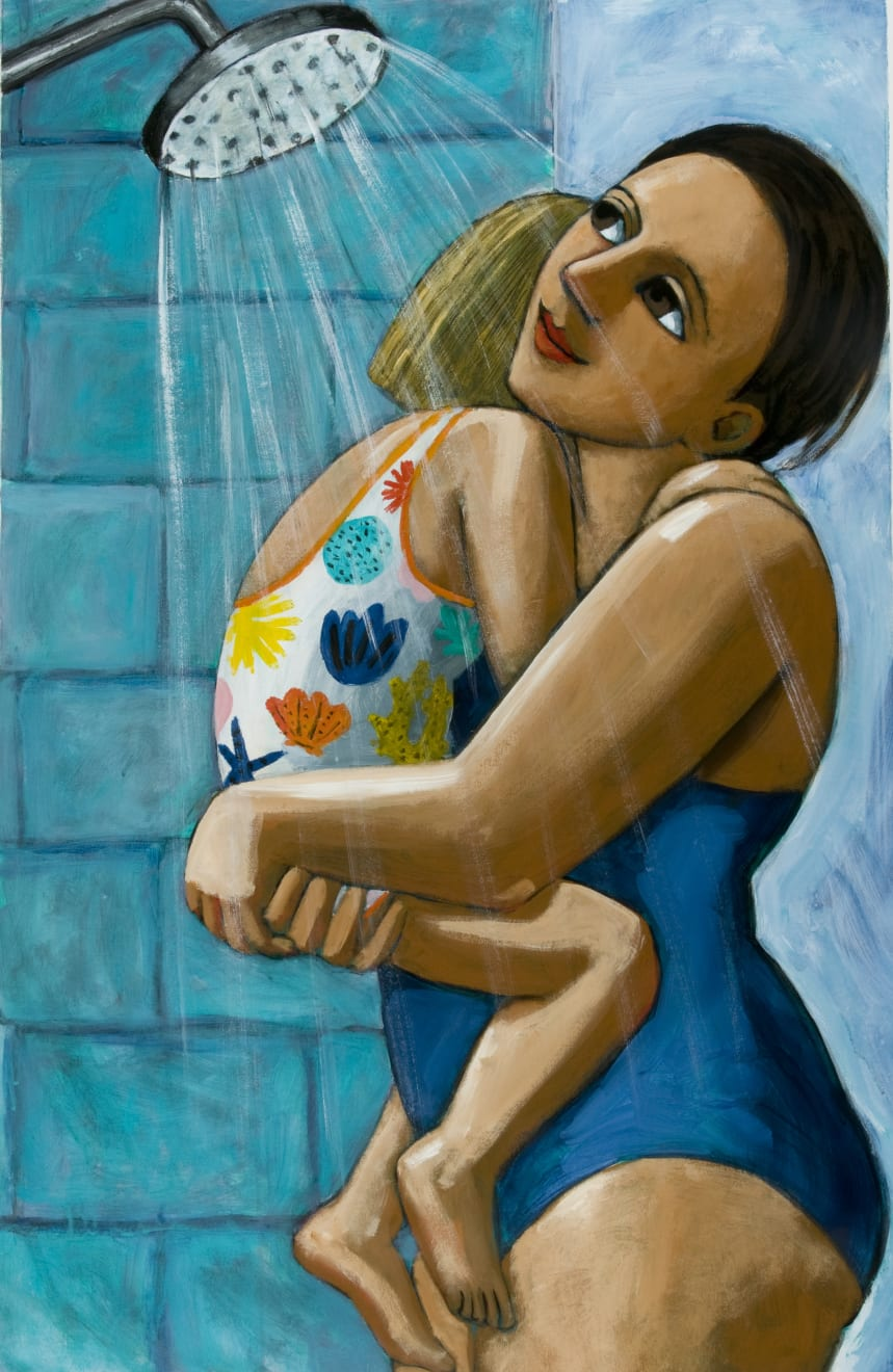 Anita Klein, Shower After Swimming, 2019