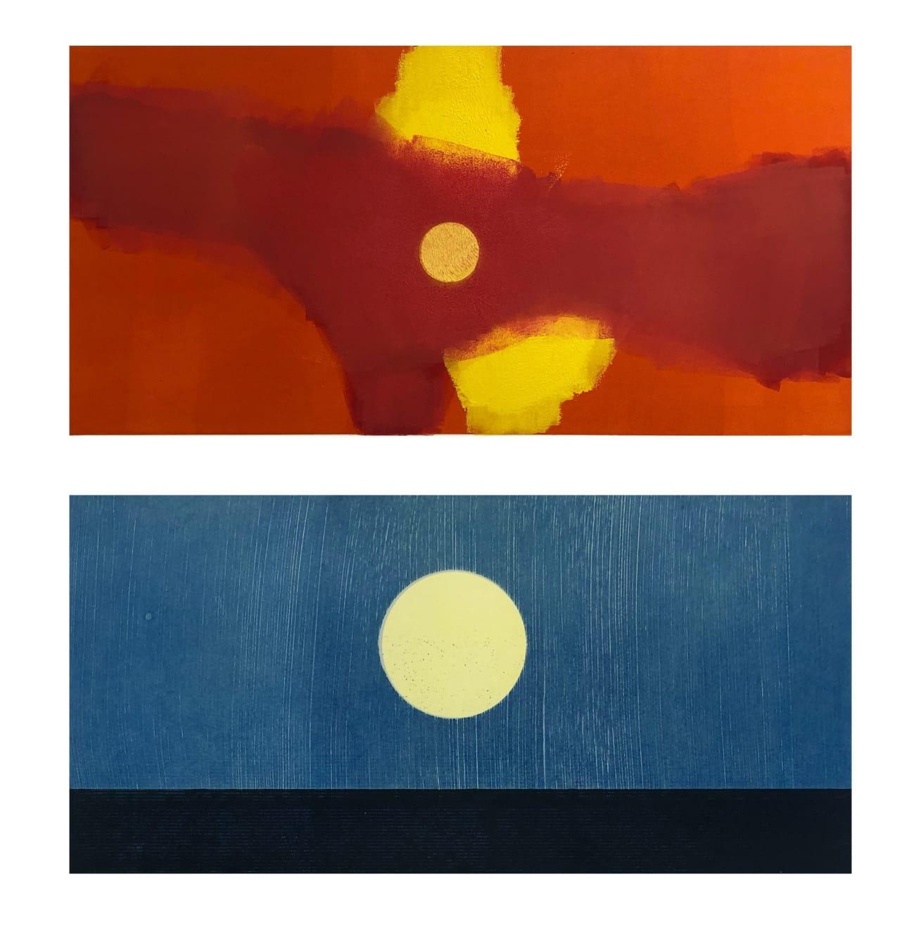 Nigel Swift, Dawn (top) | First Moon (bottom), 2020