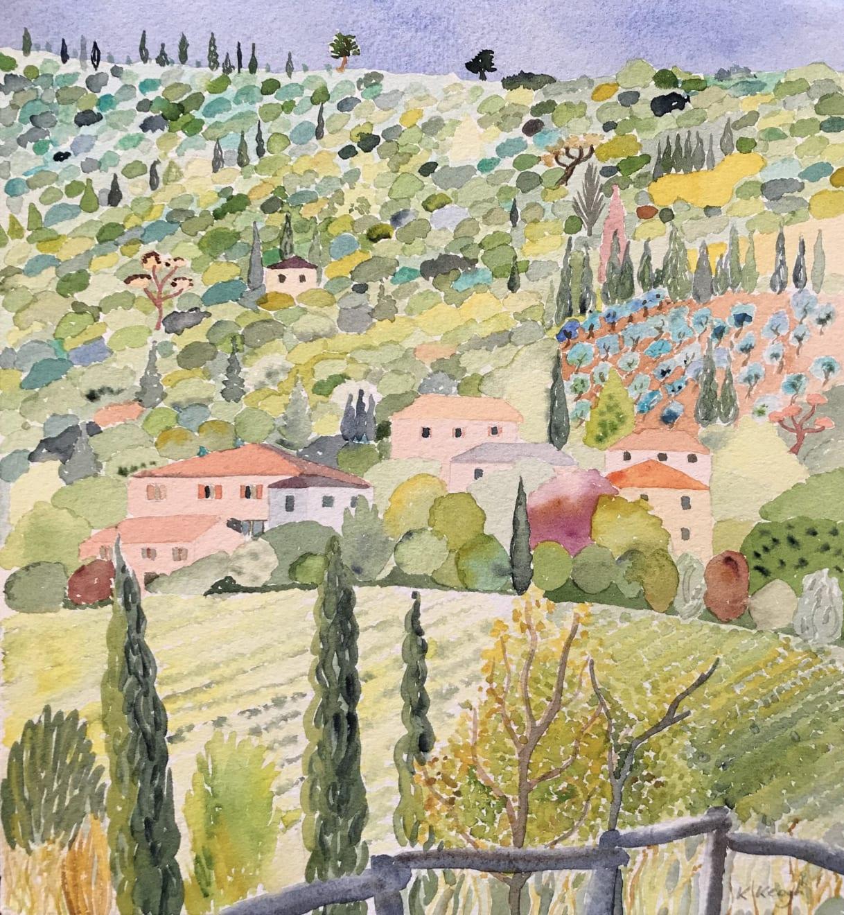 Karen Keogh, Distant Vineyard, Tuscany