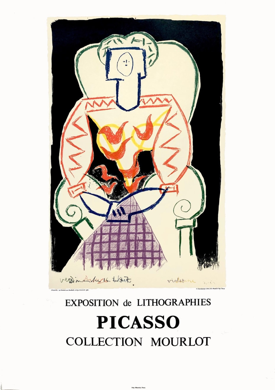Pablo Picasso, 'Exposition de Lithographies' Picasso Poster, 1988