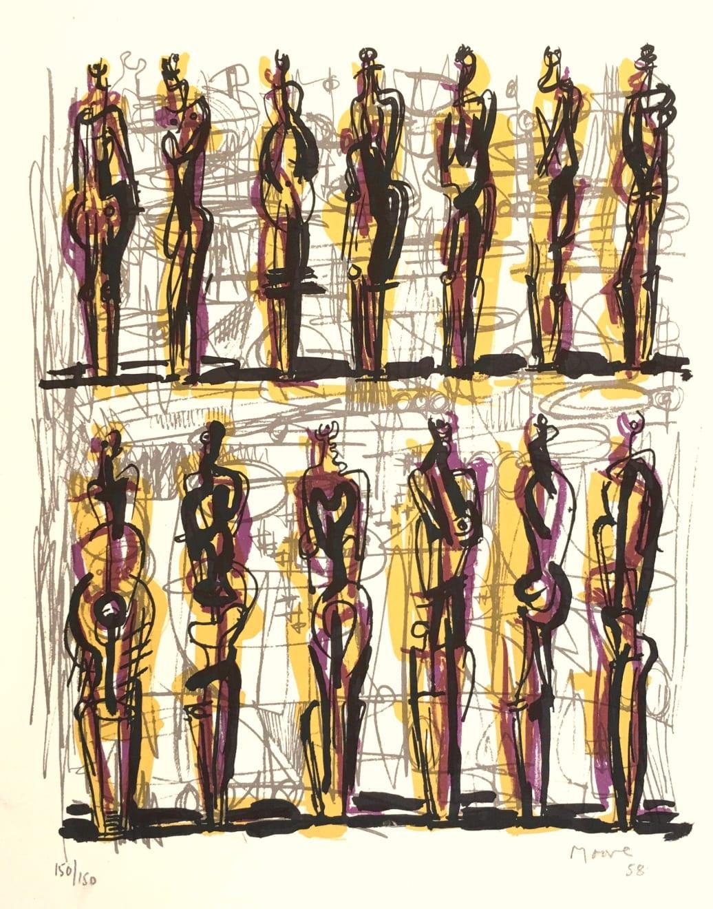 Henry Moore, Thirteen Standing Figures, 1958