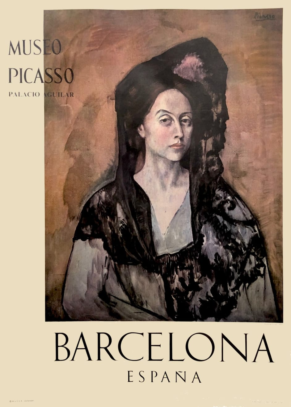 Pablo Picasso, Museo Picasso Barcelona Poster (Madame Canals), 1966