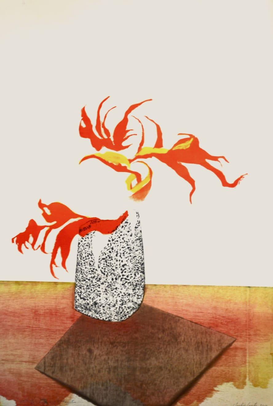 Sophie Layton, Still Life - Rose and Pot (Negative), 2019