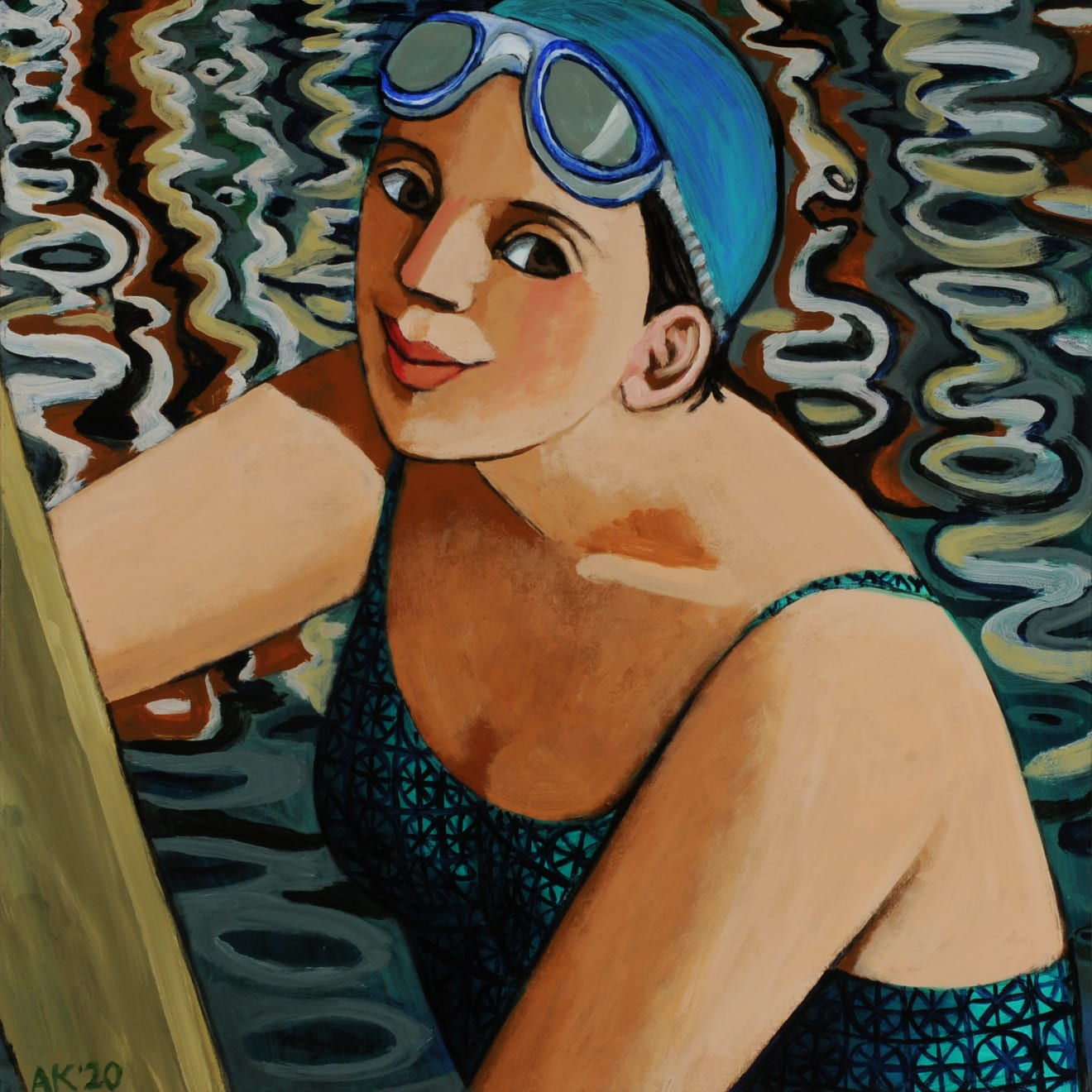 Anita Klein, Reflections in the Dock, 2020