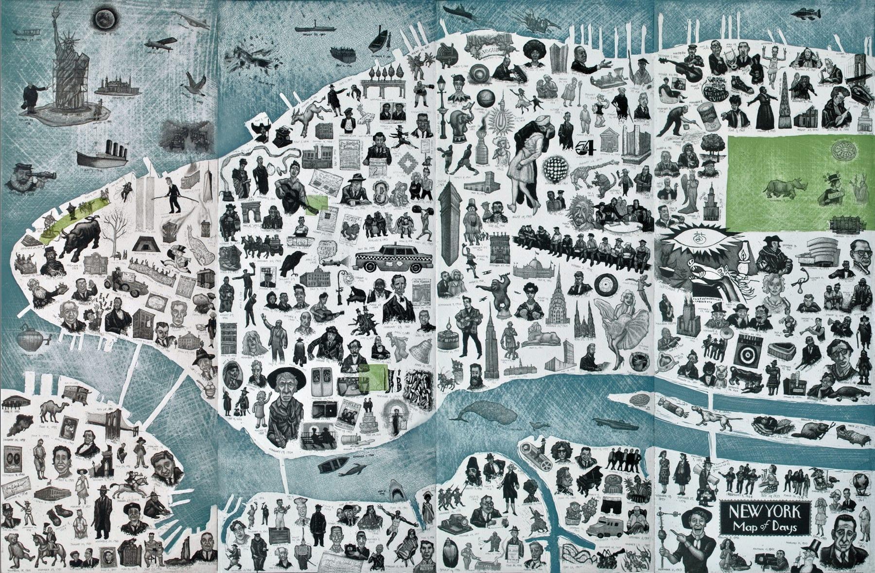 Mychael Barratt, New York Map of Days, 2017