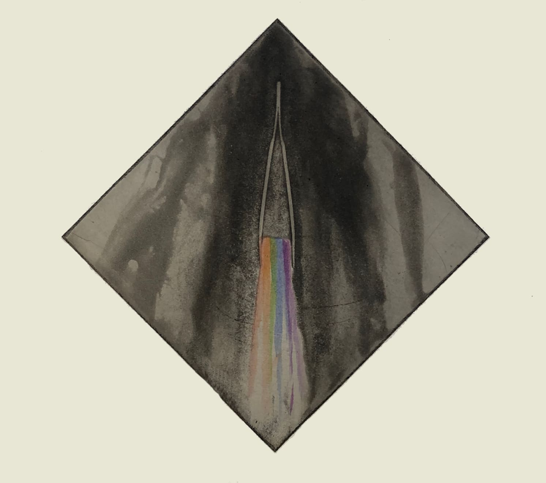 Norman Ackroyd, Lockdown Rainbow No. 3 - Forensic, 2020