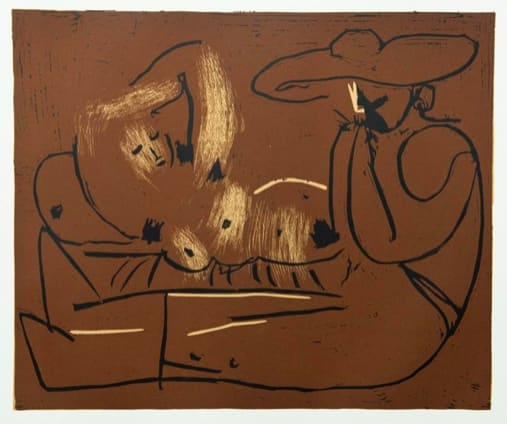 Pablo Picasso, Reclining Woman and Picador Eating Grapes, 1962