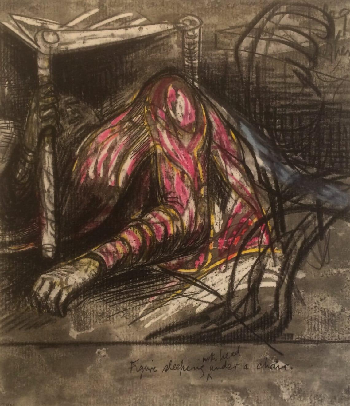 Henry Moore, Untitled VII (Shelter Sketchbook), 1967