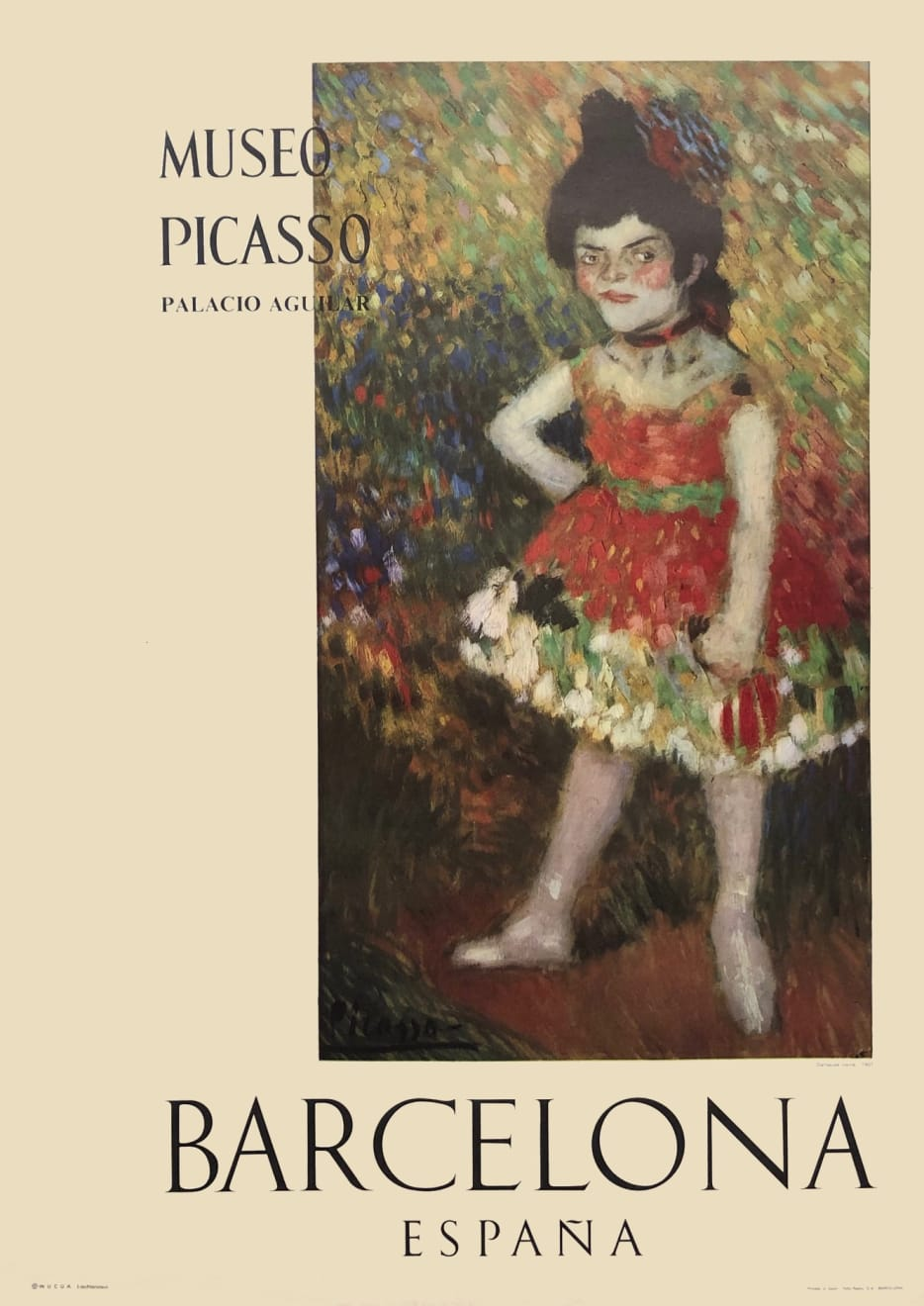 Pablo Picasso, Museo Picasso Barcelona Poster (Danseuse Naine), 1966