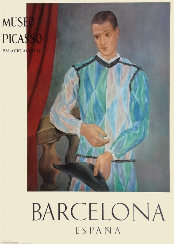 Pablo Picasso, Museo Picasso Barcelona Poster (Harlequin), 1966