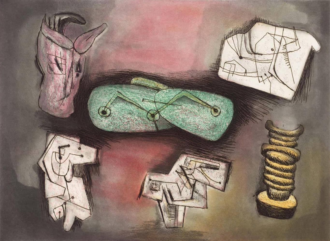 Henry Moore, Sculptural Ideas 4, 1980