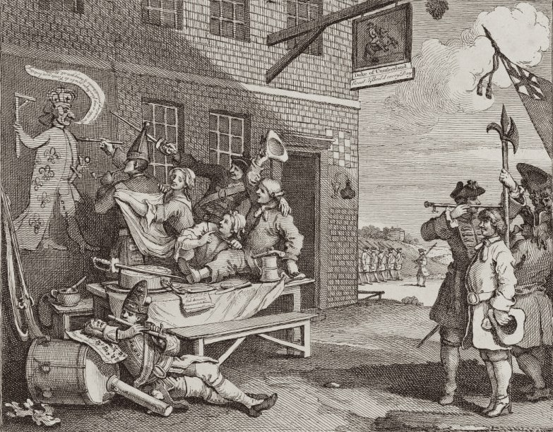 Summer Auction 2020, LOT 82 - William Hogarth - 'The Invasion, Plate 2: England', 1756