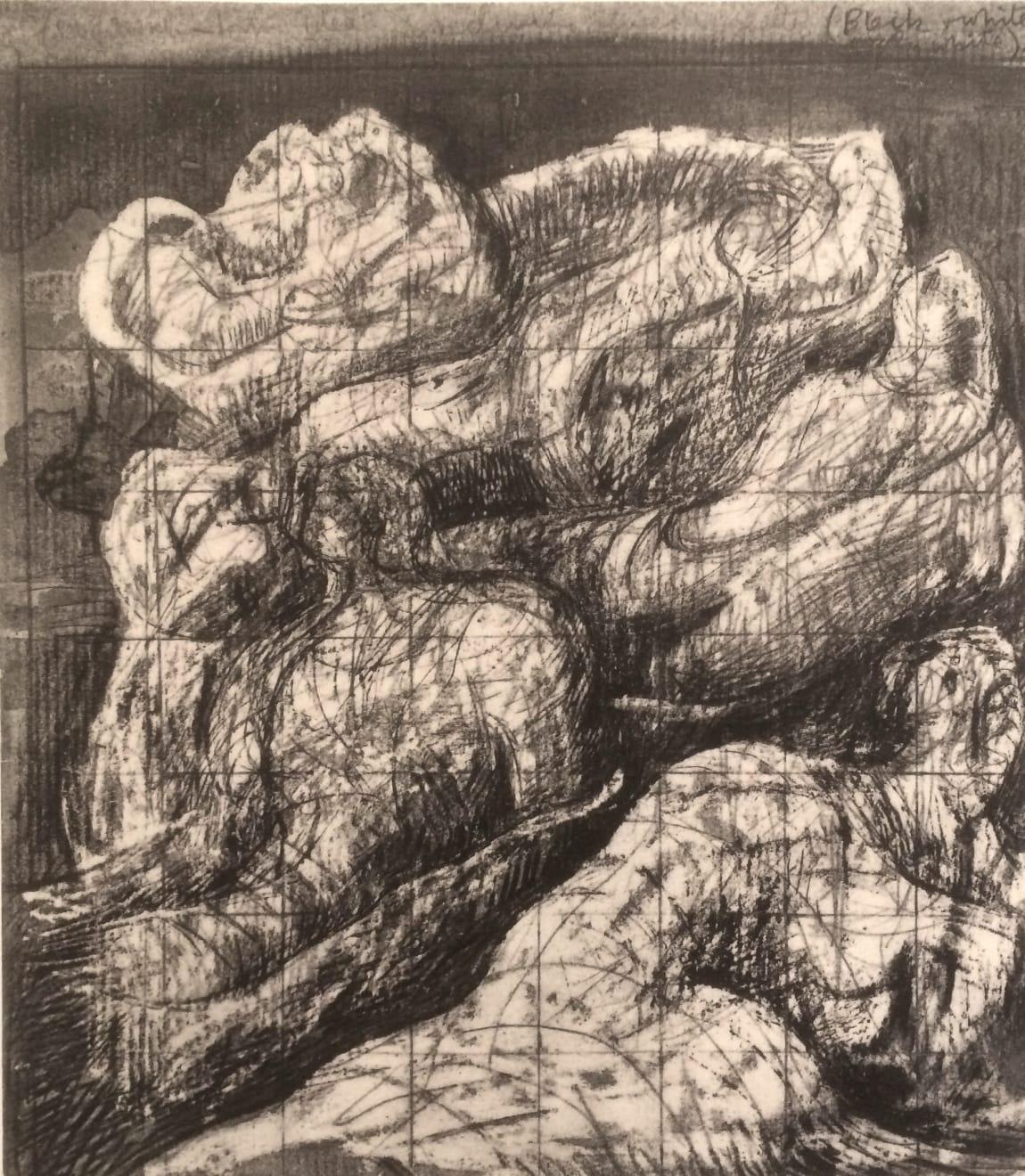Henry Moore, Untitled XLIII (Shelter Sketchbook), 1967