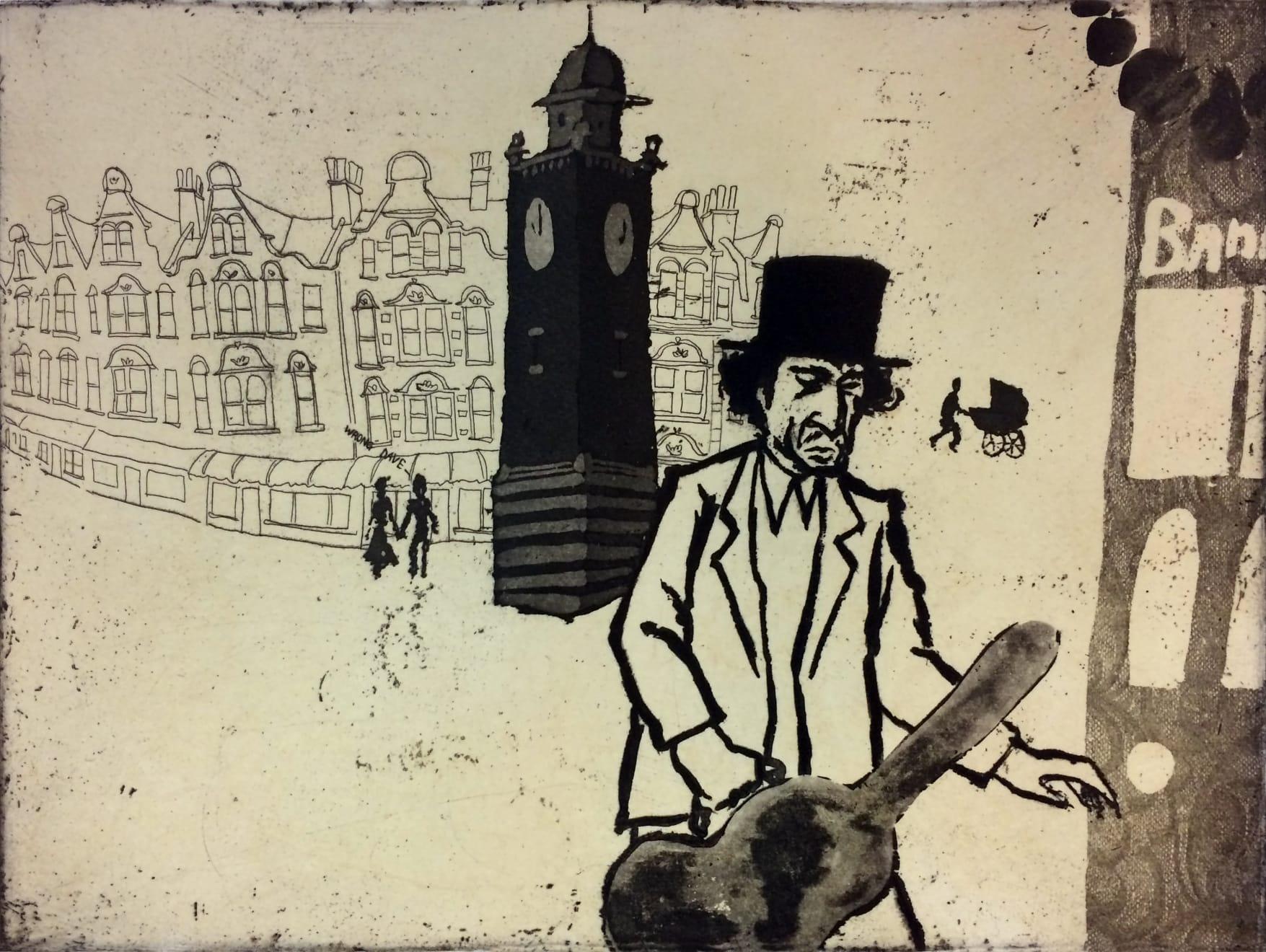 Mychael Barratt, Urban Myths IX, Bob Dylan in Crouch End, 2017