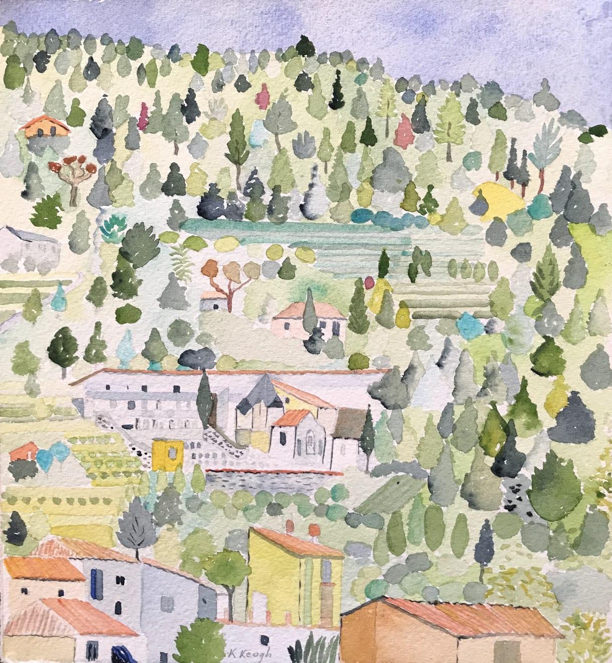 Karen Keogh, View from the Pool, Bagni di Lucca, Tuscany