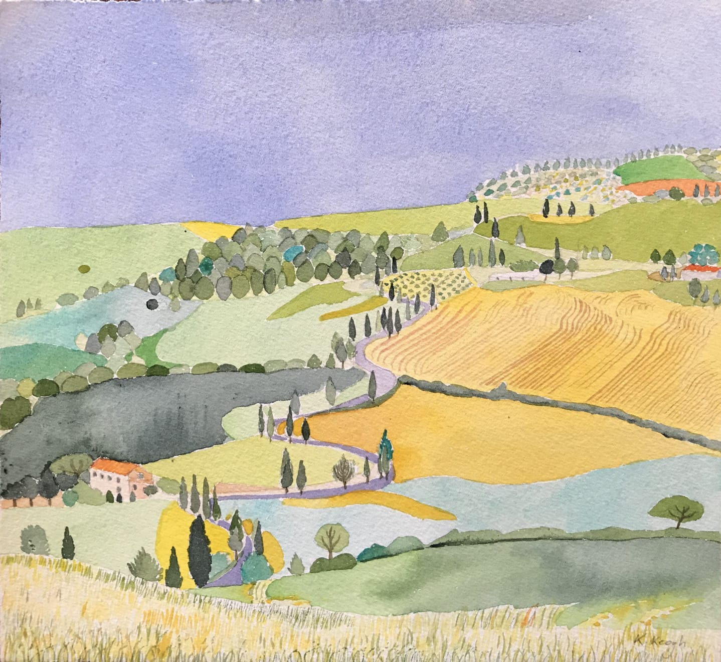 Karen Keogh, On the Road to Siena, Tuscany