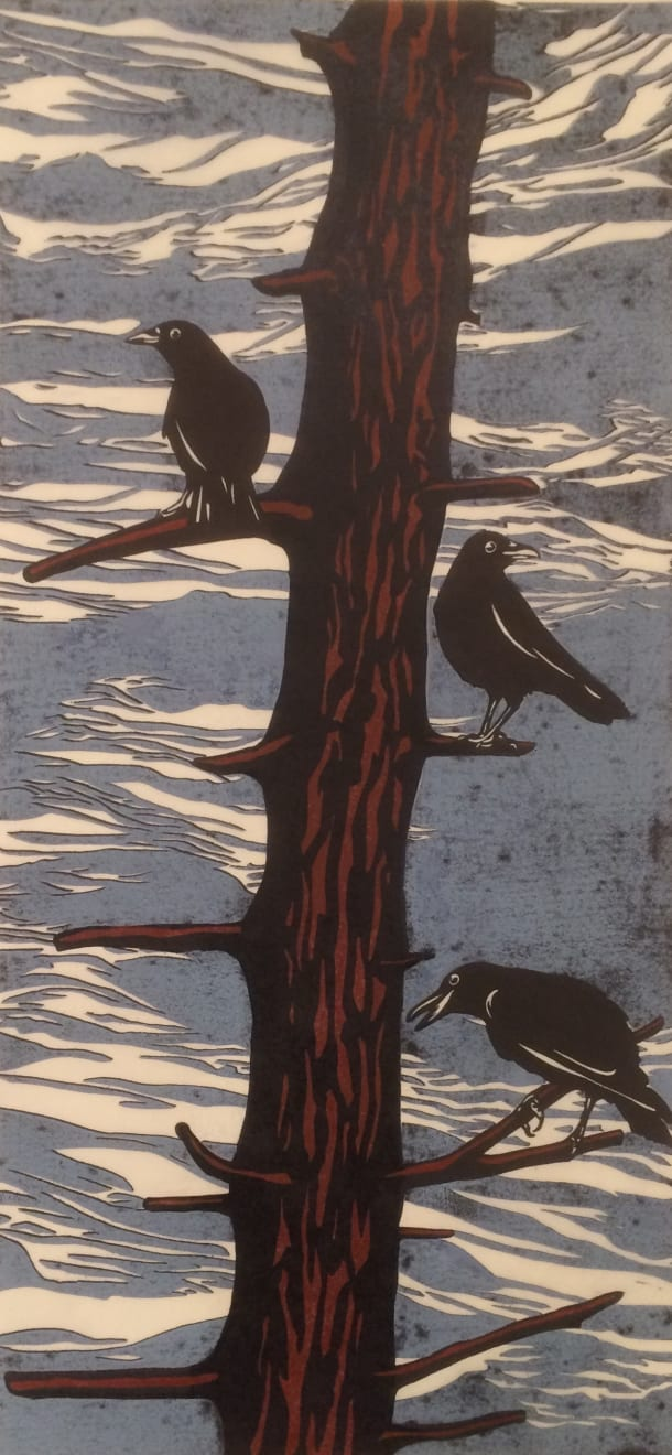 Summer Auction 2020, LOT 84 - Paul Hogg - 'Crows in a Tree', 2014