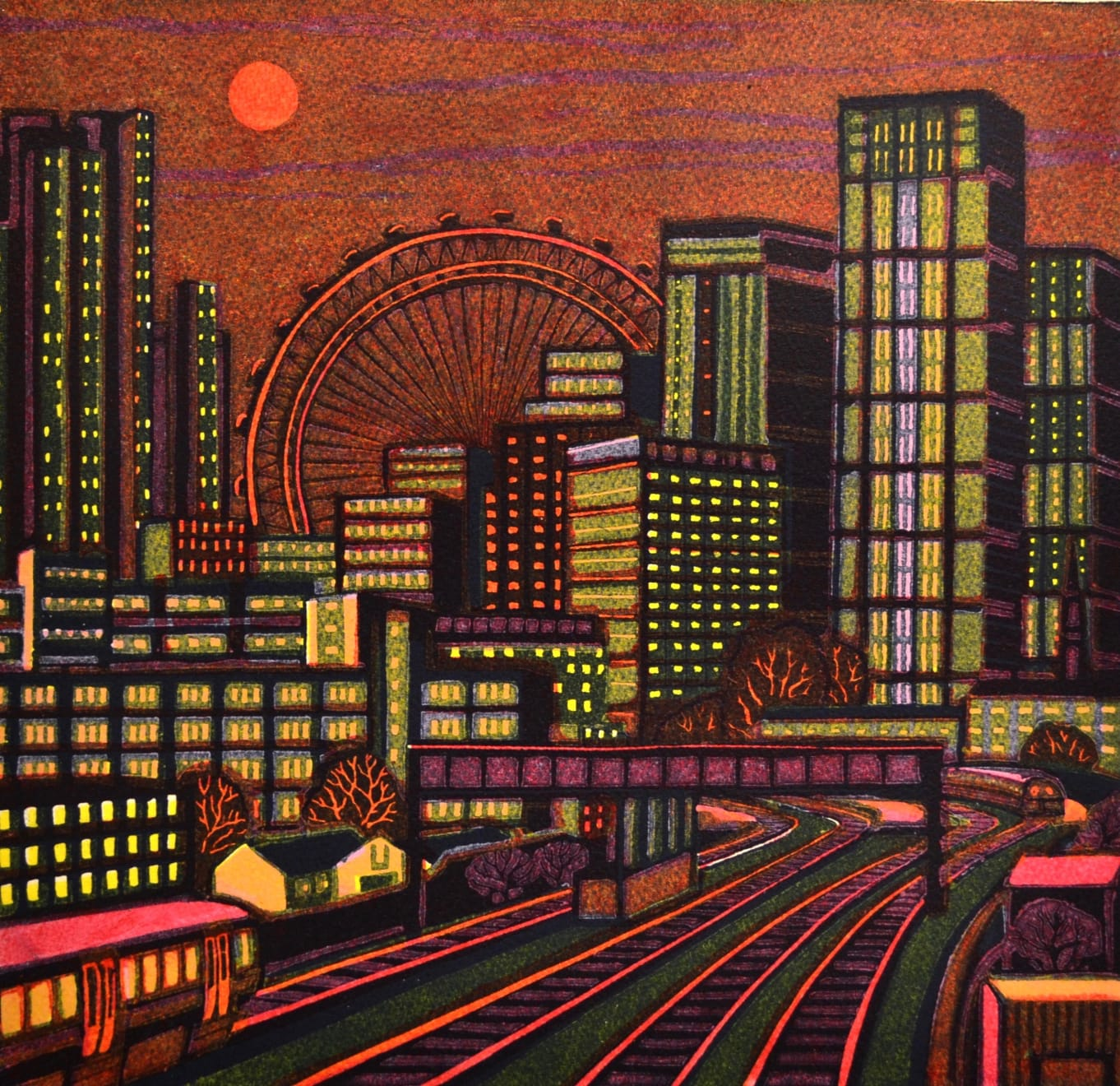 Gail Brodholt, A City Sunset, 2019