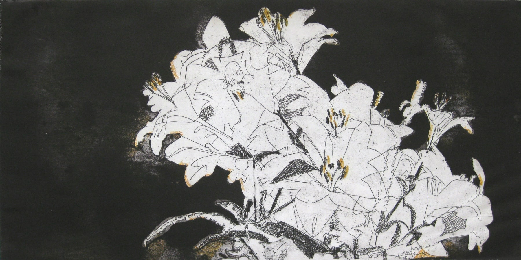 Summer Auction 2020, LOT 42 - Amanda Danicic - 'Lilies Black and Orange', 2009