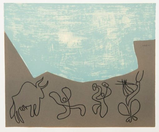 Pablo Picasso, Bacchanal with Bull, 1962