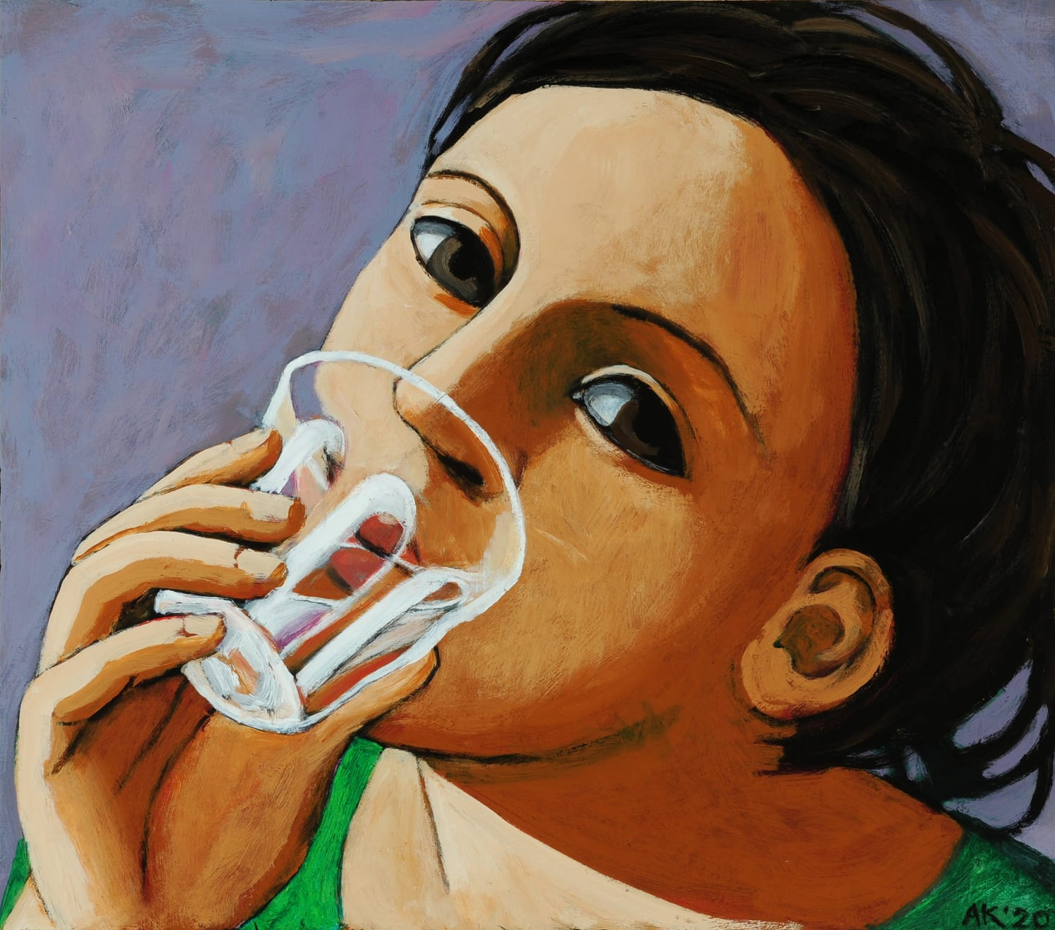 Anita Klein, A Glass of Water, 2020
