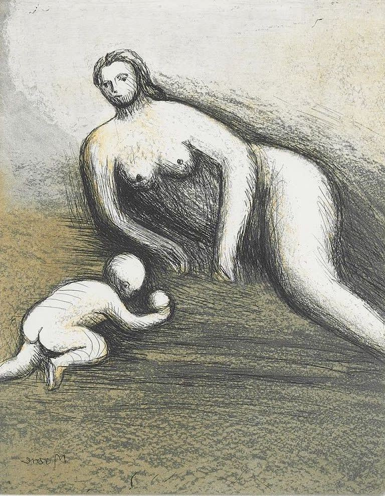 Henry Moore, Mother and Child VI, 1983