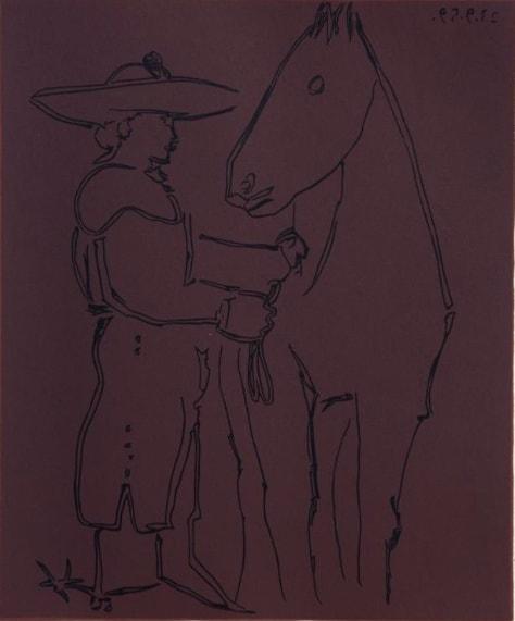 Pablo Picasso, Picador and Horse, 1962