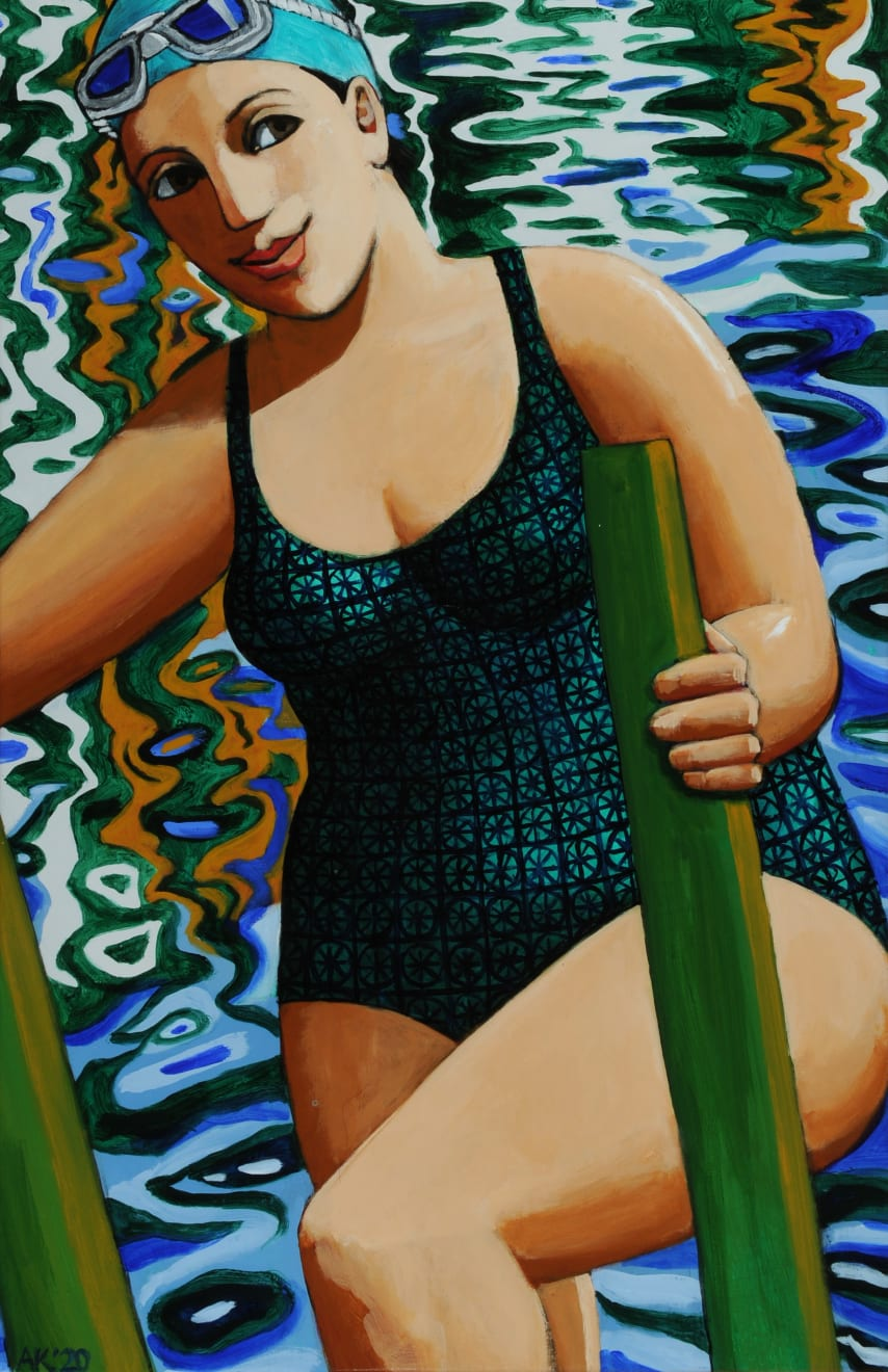 Anita Klein, Royal Docks Swim, 2020