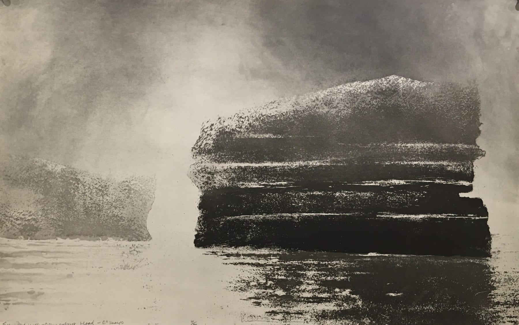 Norman Ackroyd, Sun & Mist- Downpatrick Head - Co Mayo, 2014