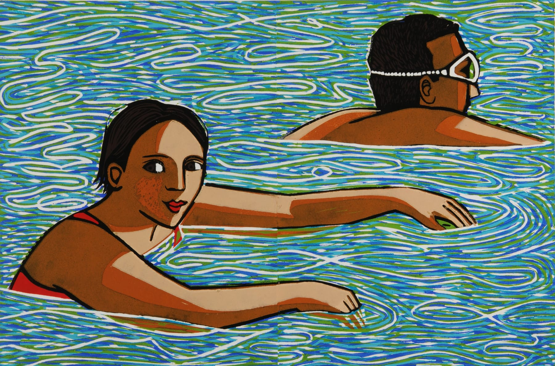 Anita Klein, Swimming in the Lake, 2014