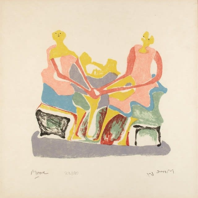 Henry Moore, Two Seated Women, 1967