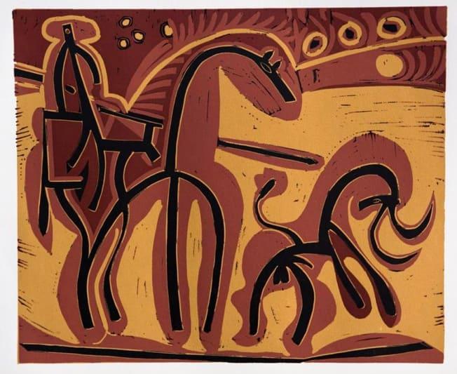 Pablo Picasso, Picador and Bull, 1962