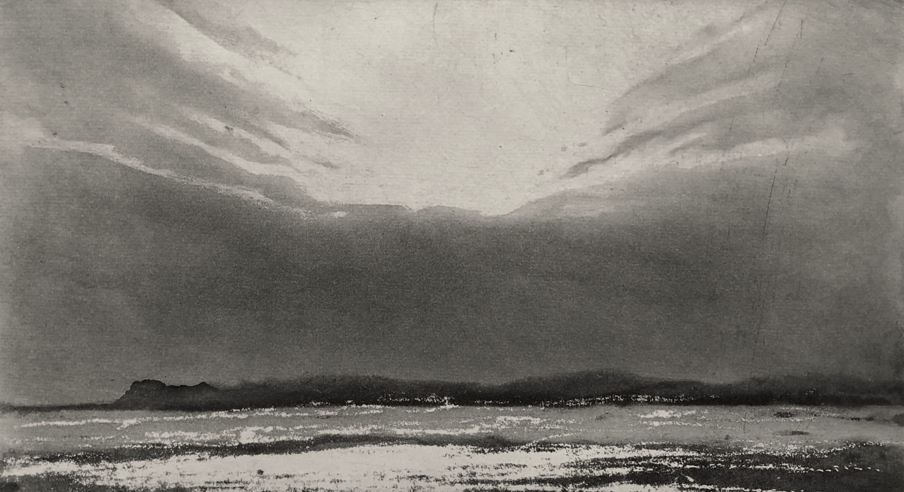 Norman Ackroyd, The Gower in Twilight , 2020