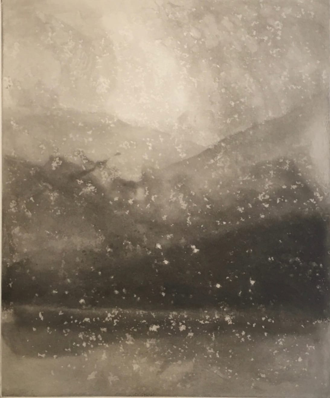 Norman Ackroyd, Evening Snow - Coniston, 2000